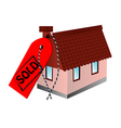 sold sign and home vector image