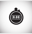 stopwatch on white background vector image
