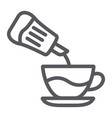 sugar line icon drink and sweet sugar and cup vector image vector image