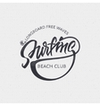 surfing badges sign handmade differences made vector image vector image