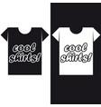 t-shirt logo cool shirts vector image