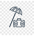 travel insurance concept linear icon isolated on vector image