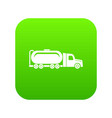 truck oil icon green vector image vector image