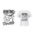 tshirt print with deer mascot for hunting club vector image