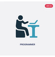 two color programmer icon from people skills vector image vector image