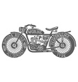 Vintage Motorcycle Hand drawn Silhouette vector image