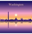 Washington city skyline silhouette background vector image vector image