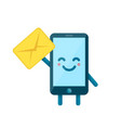 your smartphone friend have a message vector image vector image