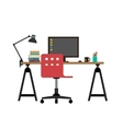 Working desk vector image