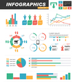 infographics statistics set vector image