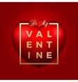 Red Heart on Background Golden Modern vector image