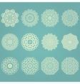 Snowflake winter geometric vintage set vector image