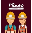 miner profession design vector image