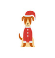 a cute smooth fox terrier is standing in a vector image
