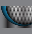 abstract blue curve on silver circle mesh vector image vector image