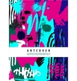 artistic poster card with text space Hand vector image vector image