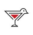 bird drink logo vector image vector image