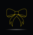 bow gold on black vector image vector image