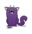 cartoon images of cute different purple vector image