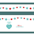 Christmas star border with heart vector image