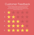 customer feedback five rating levels with stars vector image vector image