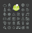 different ecology icons collection web and mobile vector image