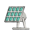 drawn solar panel renewable energy alternative vector image vector image