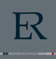 E-R monogram logo vector image