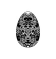 egg shaped ornament vector image vector image