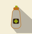 flat bottle with medical pills icon health care vector image