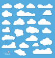 flat design clouds vector image