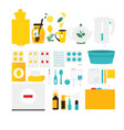 flu cold influenza treatment objects elements vector image