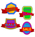 four colorful christmas sale badges vector image vector image