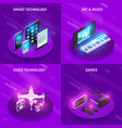 gadgets isometric composition vector image