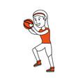 girl doing basketball sport vector image vector image