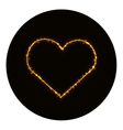 Heart icon silhouette of gold vector image vector image