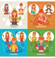 Housewife 2x2 Design Concept vector image