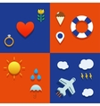 Infografic icon set with love weather flying and vector image