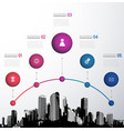 infographic template with five circles icons and vector image vector image