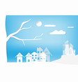 landscape city town and house with sky cloud vector image vector image