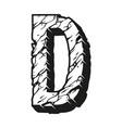 letter d desert design vintage template vector image vector image