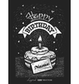Lettering Happy birthday with nameplate on vector image vector image