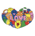 love monsters vector image vector image