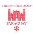 Merry Christmas Paraguay vector image vector image