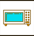 microwave oven with blue glass vector image vector image