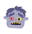 monster head avatar in cartoon style vector image vector image