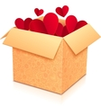 Ornate open box with red paper hearts inside