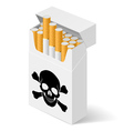 Pack cigarettes with black vector image vector image