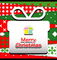 Patchwork background with christmas present vector image