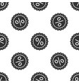 percent symbol discount icon seamless pattern vector image vector image